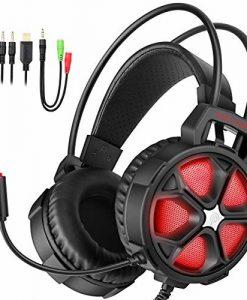Newplay gaming hörlurar EasySMX COOL 2000 röd