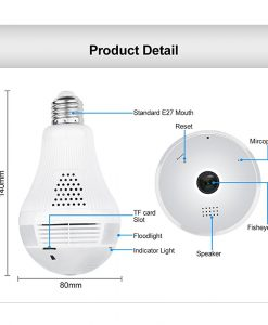 Newplay smart hem kamera wifi trådlös panorama 360