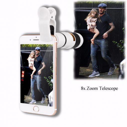 newplay objektiv mobiltelefon 8x zoom