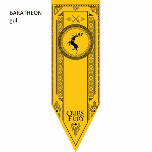 Newplay BARATHEON gul Game of thrones banner flagga