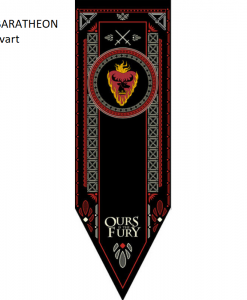 Newplay BARATHEON svart Game of thrones banner flagga