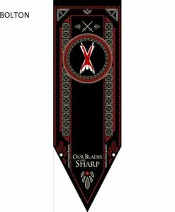 Newplay BOLTON Game of thrones banner flagga