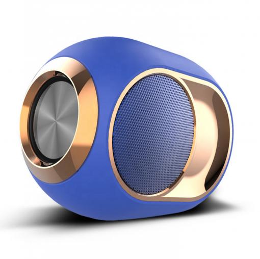 newplay Bluetooth högtalare trådlös uppladdningsbar 5W X6 blå