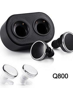 newplay Earpods hörlurar trådlösa Q800 svart vit