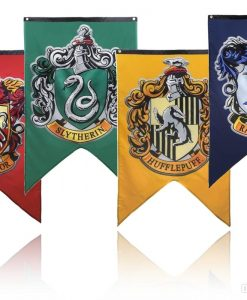 Newplay Harry Potter Gryffindor Hufflepuff Slytherin Ravenclaw flag banner flagga vimpel