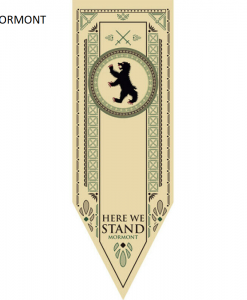 Newplay MORMONT Game of thrones banner flagga