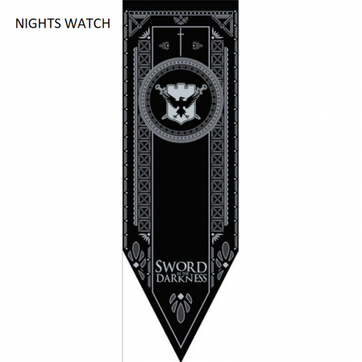 Newplay NIGHTS WATCH Game of thrones banner flagga