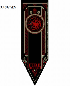 Newplay TARGARYEN Game of thrones banner flagga