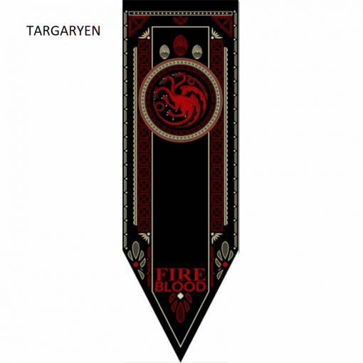 Newplay TARGARYEN Game of thrones banner flagga