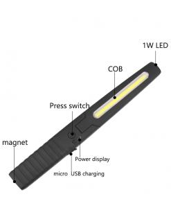 newplay arbetslampa ficklampa led uppladdningsbar G-24
