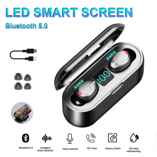 Newplay bluetooth earpods hörlurar laddbox F9 uppladdningsbar 12