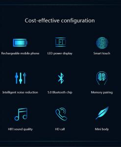 Newplay bluetooth earpods hörlurar laddbox F9 uppladdningsbar 21