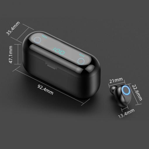 Newplay bluetooth earpods hörlurar laddbox F9 uppladdningsbar 51