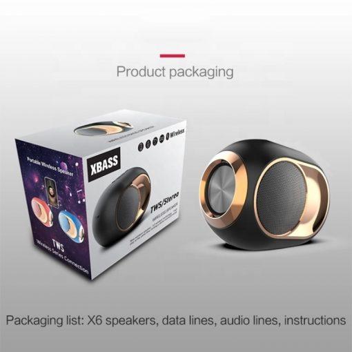 newplay bluetooth högtalare trådlös uppladdningsbar 5W X6 1