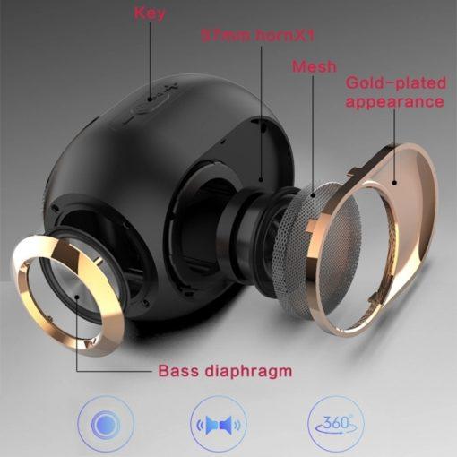 Newplay bluetooth högtalare trådlös uppladdningsbar 5W X6 sprängskiss
