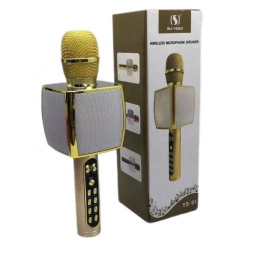 newplay bluetooth karaoke mikrofon 10W YS-91 guld