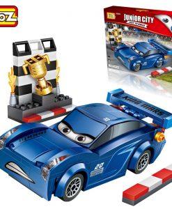 Newplay byggmodell bilar blå