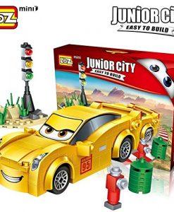 Newplay byggmodell bilar gul