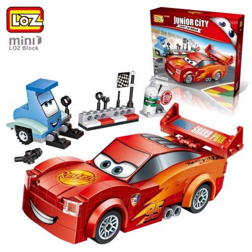 Newplay byggmodell bilar röd blixten mcqeen