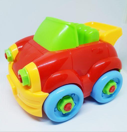 Newplay byggmodell motorik leksak skruva ihop bil