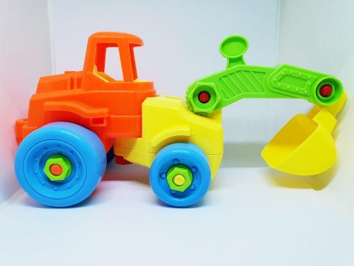 Newplay byggmodell motorik leksak skruva ihop grävskopa
