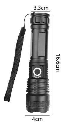 Newplay ficklampa super stark Led XHP50 uppladdningsbar (2)