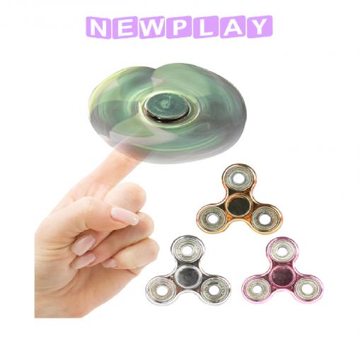 Fidget spinner i metall rosa