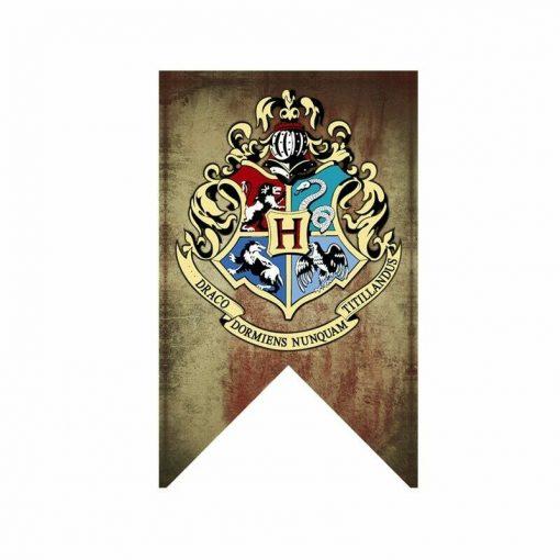 Newplay harry potter flagga vimpel hogwarts 1