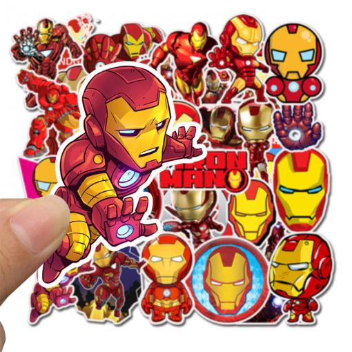 Newplay klistermärken stickers iron man marvel 1