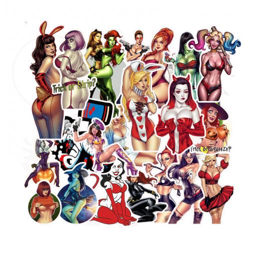 Newplay klistermärken stickers lättklädda tjejer pinuppor 1
