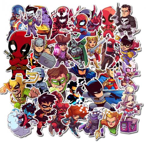 Newplay klistermärken stickers superhjältar marvel