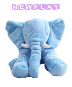 Kompis Elefant mjukisdjur kudde 60 cm blå