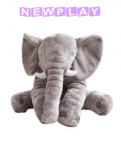 Kompis Elefant mjukisdjur kudde 60 cm grå