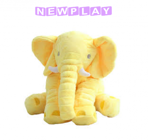 Kompis Elefant mjukisdjur kudde 60 cm gul