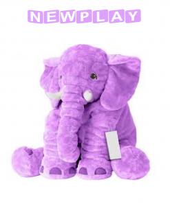 Kompis Elefant mjukisdjur kudde 60 cm lila