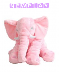 Kompis Elefant mjukisdjur kudde 60 cm rosa