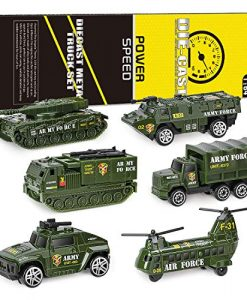newplay leksaksbilar i metall och plast 6 pack army militär