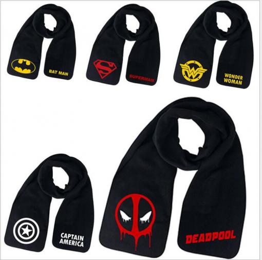 newplay marvel avengers halsduk scarf capten america deadpool wonderwoman superman batman
