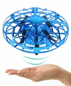 newplay mini drönare ir sensorer induktion självflygande blå