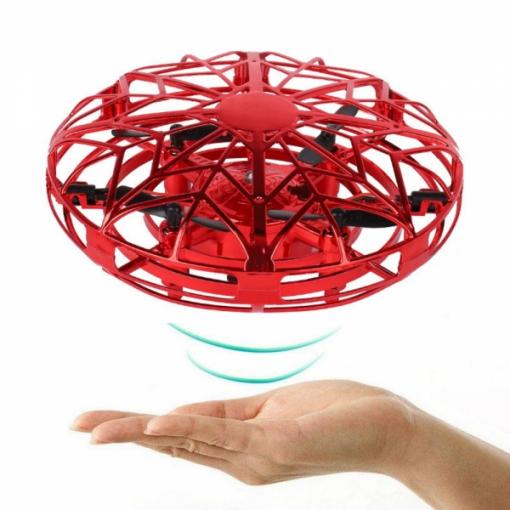 newplay mini drönare ir sensorer induktion självflygande röd