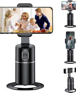 Newplay mobilhållare automatisk tracking 360 grader selfiephone kamera