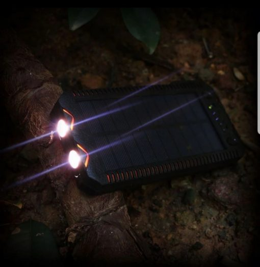 Newplay outdoor solcell powerbank 20.000mah ficklampa