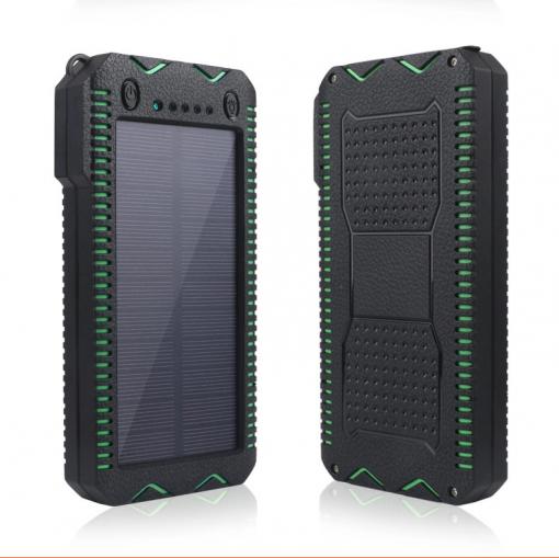 Newplay outdoor solcell powerbank 20.000mah grön