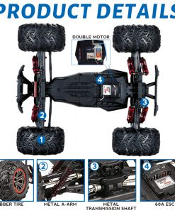 Newplay radiostyrd bil monstertruck offroad stor HOSHI N516 3