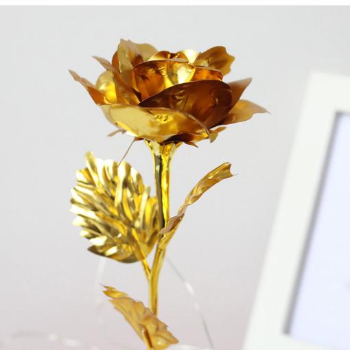 Newplay ros i metall med glaskupa och belysning guld guld 1