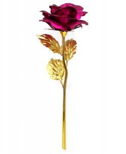 newplay ros i metall med love stativ rosa
