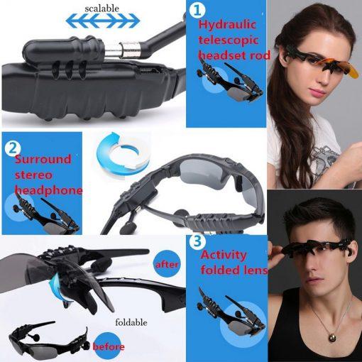 Newplay sportglasögon med inbyggda bluetooth hörlurar 6
