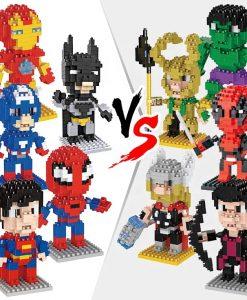 newplay superhjältar byggmodell mini lego 1