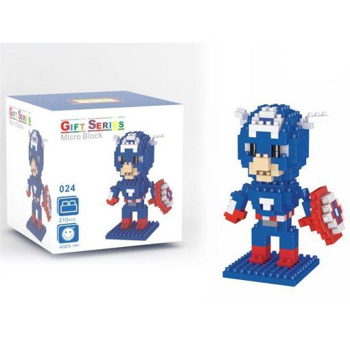 newplay superhjältar byggmodell mini lego captain america 1.1