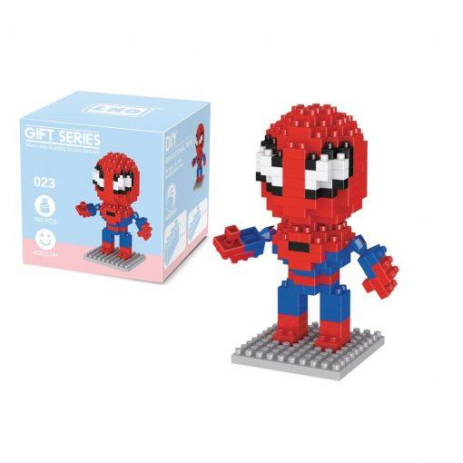 newplay superhjältar byggmodell mini lego spindelmannen 1.1